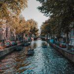 Foto van de Amsterdamse grachten