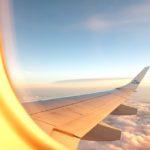 Foto vanuit het vliegtuig